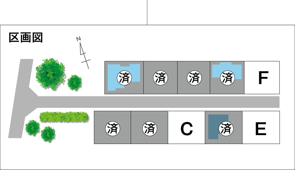 駅近タウン「寺家」_区画図_I済